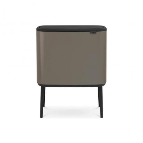 3 х 11 л. кош за смет в цвят платина Brabantia серия Bo Touch