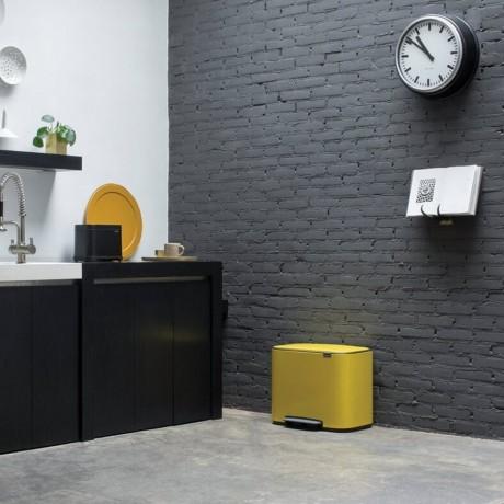 36 л. маргаритково жълт кош за отпадъци Brabantia серия Bo Pedal