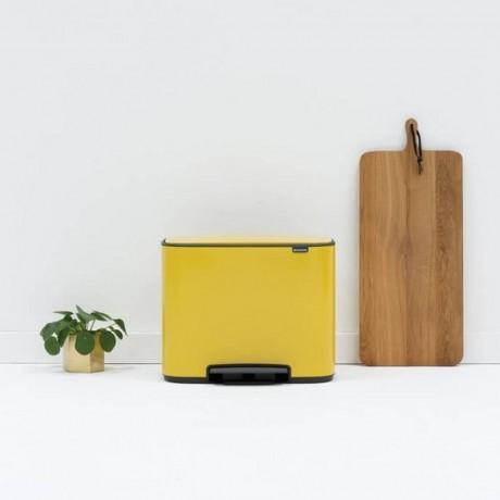 11 + 23 л. кош в маргаритково жълт цвят Brabantia серия Bo Pedal