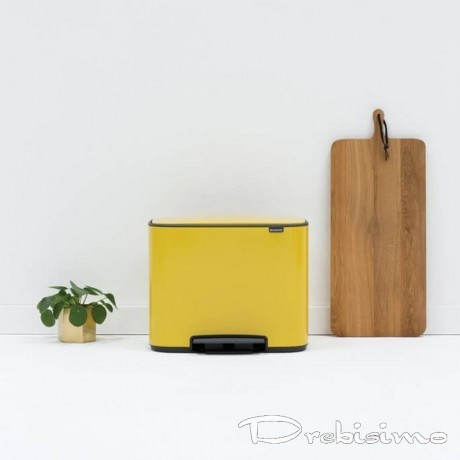 3 х 11 л. кош в маргаритково жълт цвят Brabantia серия Bo Pedal