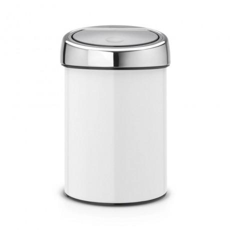 3 л. бяло кошче за боклук Brabantia от серия Touch Bin