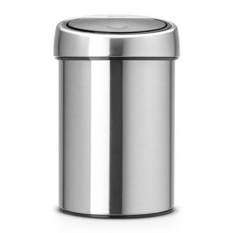 3 л. кошче за боклук в цвят матиран инокс Brabantia от серия Touch Bin