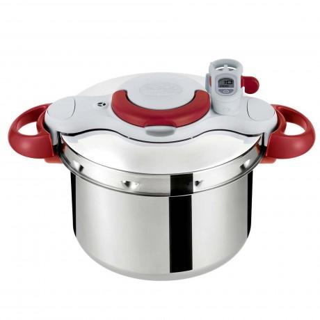 7,5 л. тенджера за готвене под налягане Tefal от серия Clipso Minut Perfect