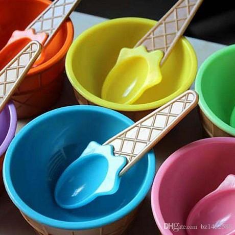 Комплект от 3 бр. детски лъжички за сладолед