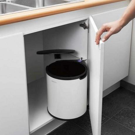 15 л. бяло кухненско кошче за вграждане в шкаф Brabantia