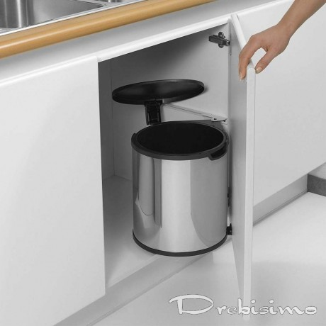 15 л. кухненско кошче за вграждане в шкаф блестящ инокс Brabantia