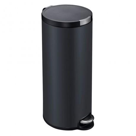 30 л. матирано черен кош за отпадъци с педал ЕКО от серия ARTISTIC