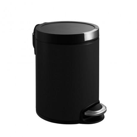 5 л. матирано черен кош за отпадъци с педал ЕКО от серия ARTISTIC