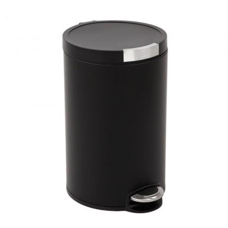 20 л. матирано черен кош за отпадъци с педал ЕКО от серия ARTISTIC