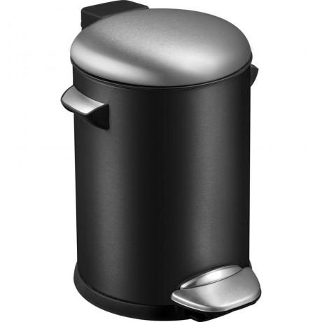3 л. черен кош за отпадъци с педал ЕКО от серия BELLE DELUXE