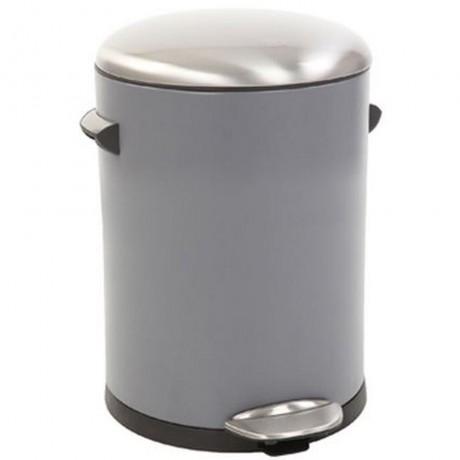 5 л. сив кош за отпадъци с педал ЕКО от серия BELLE DELUXE