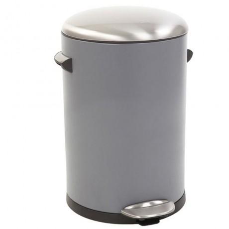 12 л. сив кош за отпадъци с педал ЕКО от серия BELLE DELUXE