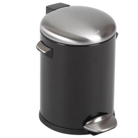 5 л. черен кош за отпадъци с педал ЕКО от серия BELLE DELUXE