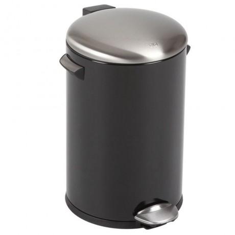 12 л. черен кош за отпадъци с педал ЕКО от серия BELLE DELUXE