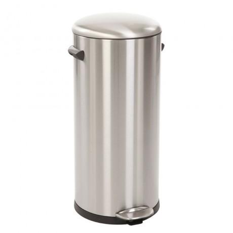 30 л. кош за отпадъци с педал цвят матиран инокс ЕКО от серия BELLE DELUXE