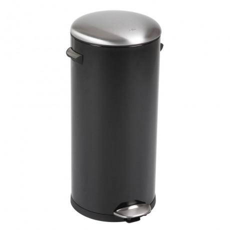 30 л. черен кош за отпадъци с педал ЕКО от серия BELLE DELUXE