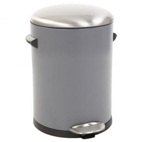 3 л. сив кош за отпадъци с педал ЕКО от серия BELLE DELUXE