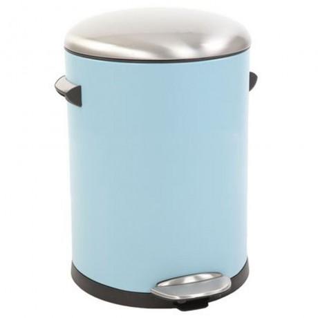 5 л. светло син кош за отпадъци с педал ЕКО от серия BELLE DELUXE