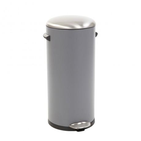 30 л. сив кош за отпадъци с педал ЕКО от серия BELLE DELUXE