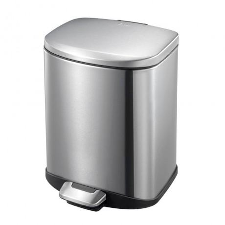 6 л. кош за отпадъци с педал цвят матиран инокс ЕКО от серия DELLA