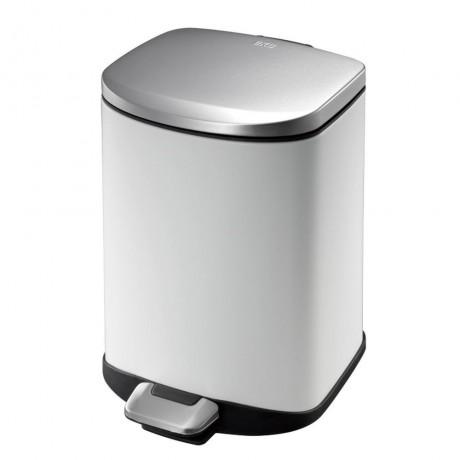6 л. бял кош за отпадъци с педал ЕКО от серия DELLA