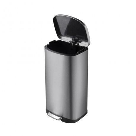 35 л. кош за разделно събиране на отпадъци с педал цвят графит - инокс ЕКО от серия DELLA