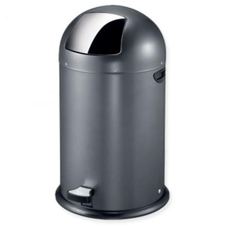 33 л. сив кош за отпадъци с педал ЕКО от серия KICK CAN