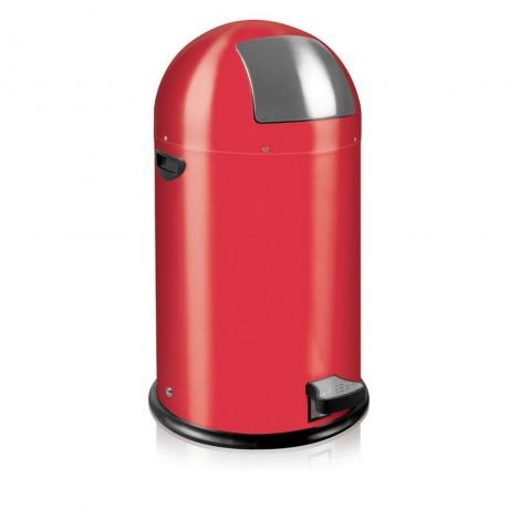 33 л. червен кош за отпадъци с педал ЕКО от серия KICK CAN