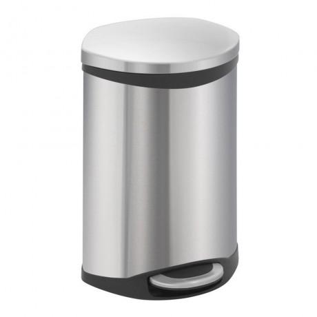 10 л. кош за отпадъци с педал цвят матиран инокс ЕКО от серия SHELL
