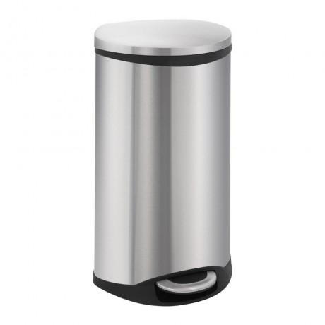 30 л. кош за отпадъци с педал цвят матиран инокс ЕКО от серия SHELL