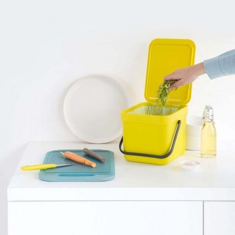 Купи 6 л. жълт кош за отпадъци Brabantia от серия SORT & GO