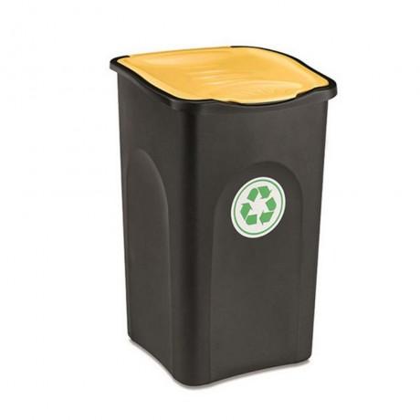 Купи 50 л. кош за отпадъци с жълт капак STEFANPLAST от серия