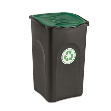 Купи 50 л. кош за отпадъци с зелен капак STEFANPLAST от серия