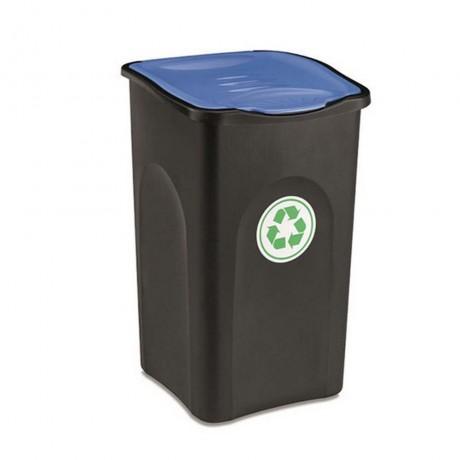 Купи 50 л. кош за отпадъци със син капак STEFANPLAST от серия
