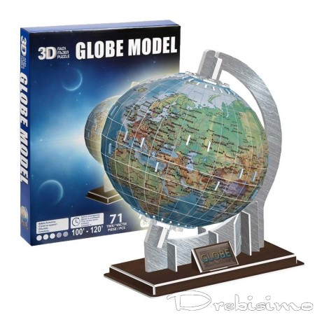 3D пъзел - глобус от 72 части