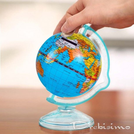 Малък глобус - касичка за монети