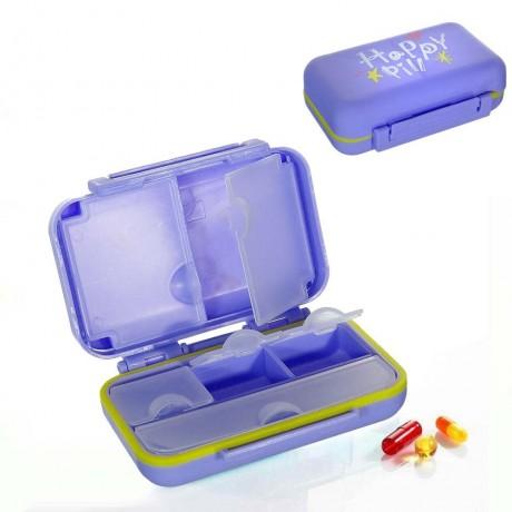 Кутийка - органайзер за хапчета с вътрешни отделения Happy Pill