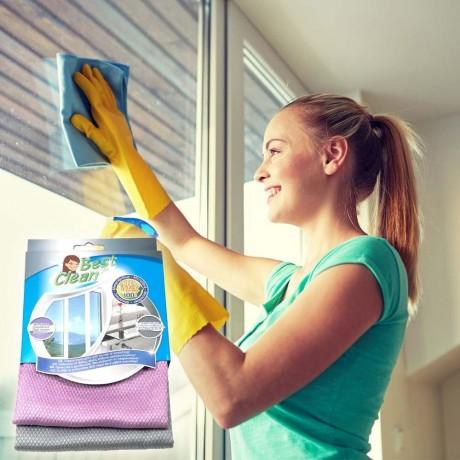 2 бр. микрофибърни кърпи за почистване на прозорци и стъкла