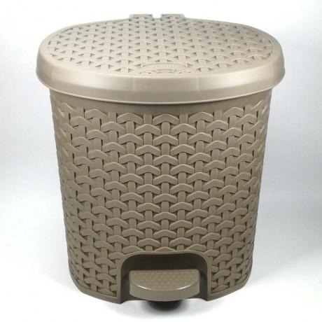5,5 л. светло кафяво кошче за отпадъци с педал