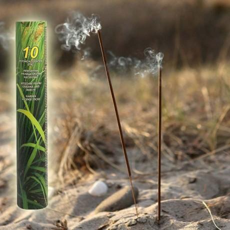 10 бр. градински пръчици за горене с цитронела против комари
