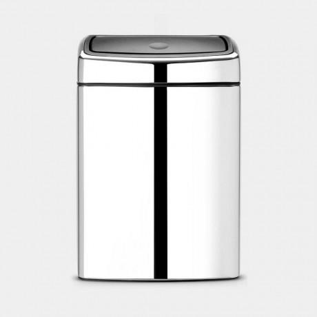 10 л. кошче за отпадъци блестящ инокс Brabantia от серия Touch Bin