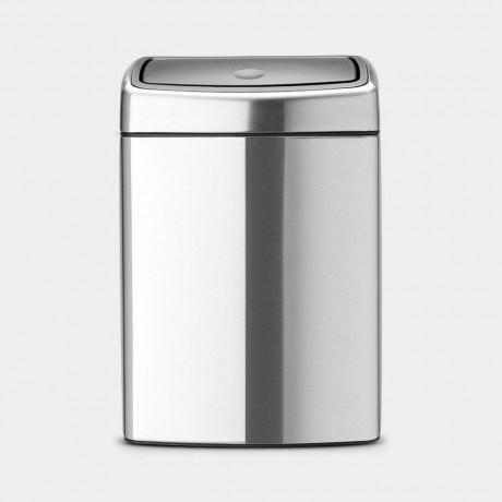 10 л. кошче за отпадъци матиран инокс Brabantia от серия Touch Bin