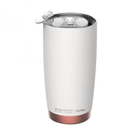 600 мл двустенна термо чаша в бял цвят ASOBU от серия GLADIATOR