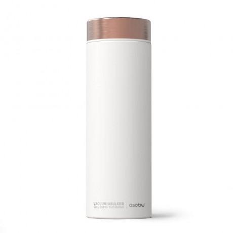 500 мл двустенна термо бутилка в бял цвят ASOBU от серия LE BATON