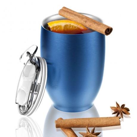300 мл синя двустенна термо чаша ASOBU от серия IMPERIAL