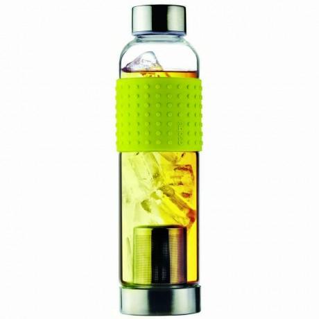 400 мл жълта стъклена термо бутилка с филтър за чай ASOBU от серия ICE T 2 GO