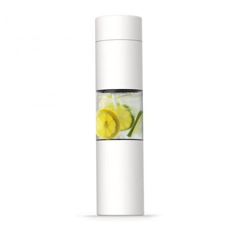 460 мл бяла двустенна термо бутилка с инфузер ASOBU от серия FLAVOUR U SEE