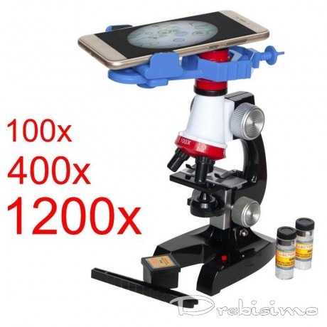 Детски микроскоп със стойка за смартфон и аксесоари