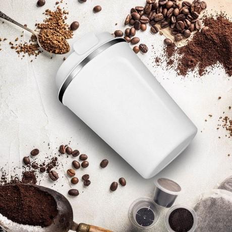 380 мл. бяла двустенна термо чаша ASOBU от серия CAFE COMPACT