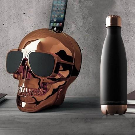 500 мл двустенна термо бутилка в цвят черно ASOBU от серия CENTRAL PARK